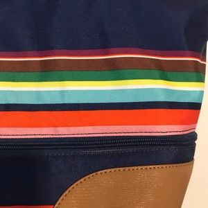 Stella & Dot Bags - Stella & Dot Striped Expandable Weekender Tote